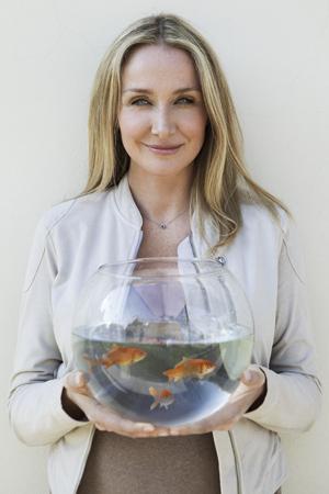 Heroína. Alexandra Cousteau, 39 años, vive embarcada en la defensa de las aguas de todo el planeta. En su reciente visita a Madrid.