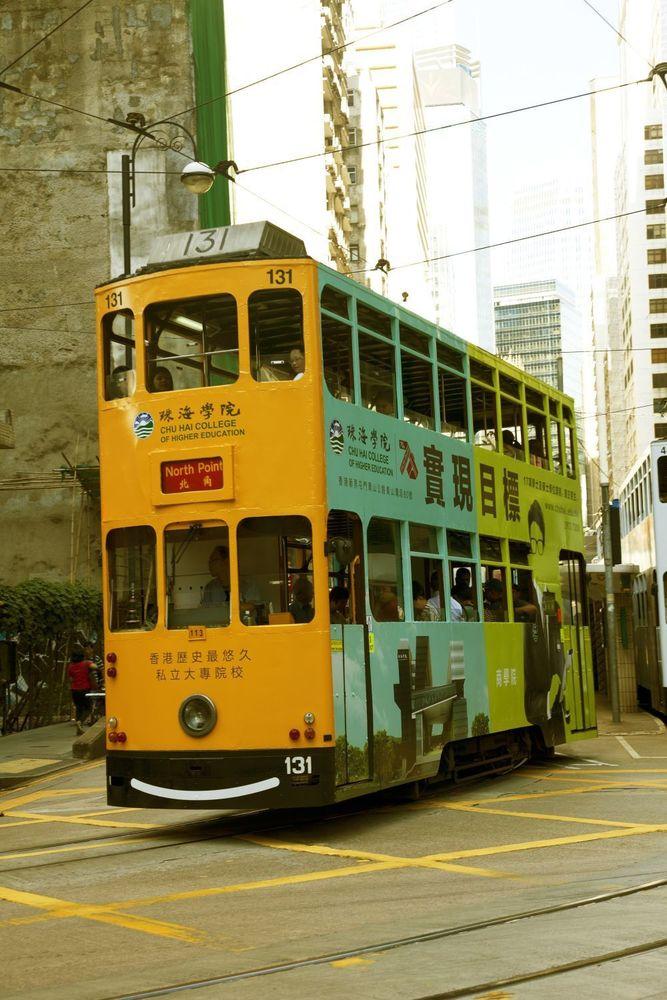 El transporte público de Hong Kong incluye tranvías de dos plantas.Kike Palacio