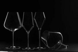 De izq. a dcha. Burgundy, de vino blanco, de vino de postre y Gravitas Omega. Ángel Becerril